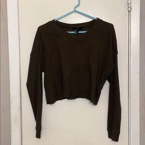 Long-Sleeve Crop Top Sweater